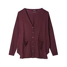 Buy Gérard Darel Wool Knitted Cardigan, Burgundy Online at johnlewis.com