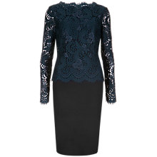 Buy Ted Baker Lace Top Fitted Dress, Blue Online at johnlewis.com