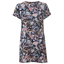 Buy True Decadence Tunic T-Shirt Dress, Black Floral Online at johnlewis.com