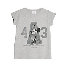 Buy Mango Disney Minnie Mouse T-Shirt, Grey Online at johnlewis.com