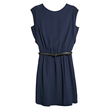 Buy Mango Back Button Dress, Navy Online at johnlewis.com