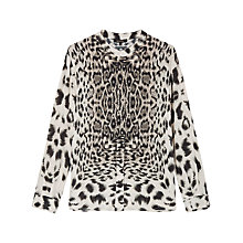 Buy Gérard Darel Animal Silk Shirt, Beige Online at johnlewis.com