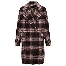 Buy Four Seasons Check Wrap Coat, Pink Online at johnlewis.com