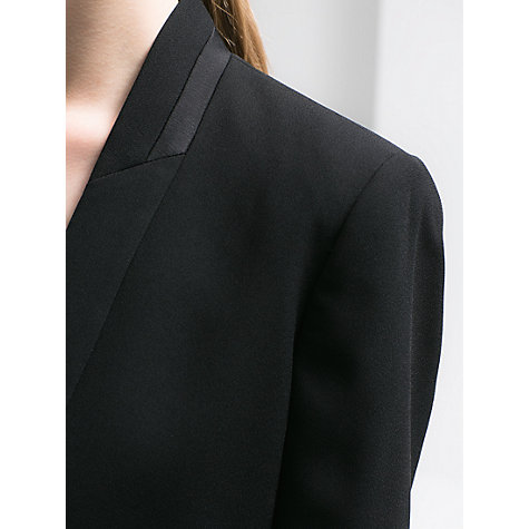 Buy Mango Satin Trim Crepe Blazer, Black Online at johnlewis.com