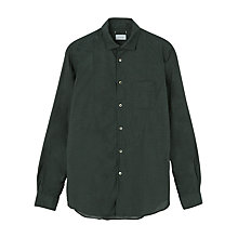 Buy Jigsaw Micro Spot Cotton Long Sleeve Shirt, Forest Online at johnlewis.com