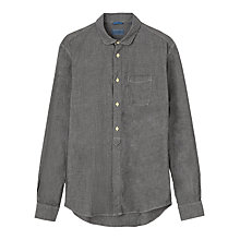 Buy Jigsaw Chambray Cotton Long Sleeve Shirt, Black Online at johnlewis.com