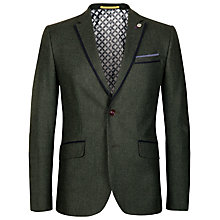 Buy Ted Baker Lousjak Wool Blend Blazer, Green Online at johnlewis.com