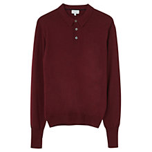 Buy Jigsaw Fine Merino Polo Shirt, Claret Online at johnlewis.com