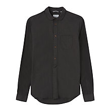 Buy Jigsaw End On End Slim Fit Shirt, Charcoal Online at johnlewis.com