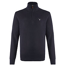 Buy Gant Sacker Half Zip Sweatshirt, Navy Online at johnlewis.com