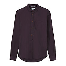Buy Jigsaw End On End Slim Fit Shirt, Damson Online at johnlewis.com