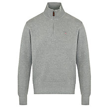 Buy Gant Sacker Zip Neck Jersey Jumper Online at johnlewis.com