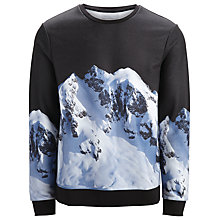 Buy Selected Homme Kilian Printed Sweatshirt, Black/White Online at johnlewis.com