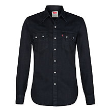 Buy Levi's Sawtooth Denim Shirt, Black Online at johnlewis.com