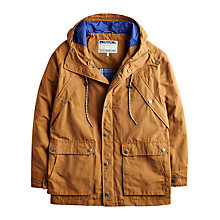 Buy Joules Four Pocket Cotton Blend Hooded Jacket, Cigar Online at johnlewis.com