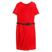 Buy Violeta by Mango Belt Detail Draped Waist Dress, Bright Red Online at johnlewis.com