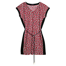 Buy Violeta by Mango Printed Flowy Dress, Bright Red Online at johnlewis.com