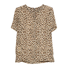 Buy Mango Leopard Print Blouse, Black Online at johnlewis.com