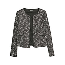 Buy Mango Flecked Jacket, Black Online at johnlewis.com