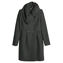 Buy Mango Wool-Blend Double-Breasted Coat, Dark Grey Online at johnlewis.com