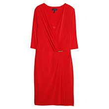 Buy Violeta by Mango Wrap Over Draped Waist Dress, Bright Red Online at johnlewis.com