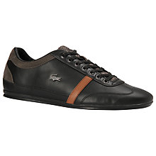 Buy Lacoste Misano Leather and Suede Trainers Online at johnlewis.com