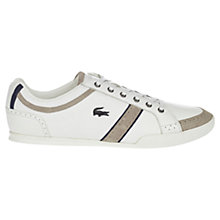 Buy Lacoste Rayford Leather Trainers, White Online at johnlewis.com