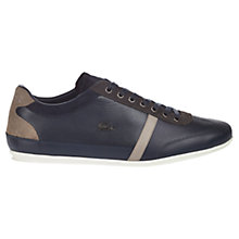 Buy Lacoste Misano Leather and Suede Trainers, Navy Online at johnlewis.com