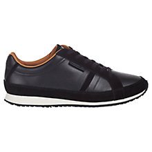 Buy Lacoste Mortain Leather Trainers, Black Online at johnlewis.com