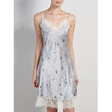 Buy Somerset by Alice Temperley Folk Floral Print Chemise, Blue Multi Online at johnlewis.com