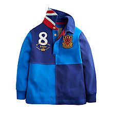 Buy Little Joule Boys' Clyde Rugby Top, Electric Blue Online at johnlewis.com