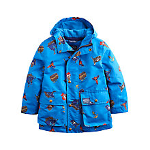 Buy Little Joule Boys' Maybury Pirate Waterproof Coat, Electric Blue Online at johnlewis.com