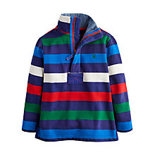 Buy Little Joule Boys' Junior Captain Multi Striped Sweatshirt, Multi Online at johnlewis.com