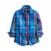 Buy Little Joule Boys' Lachlan Check Shirt, Blue Online at johnlewis.com