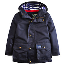 Buy Little Joule Boys' Maybury Waterproof Coat, Marine Online at johnlewis.com