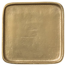Buy Day Birger et Mikkelsen Solid Square Tray, Gold Online at johnlewis.com