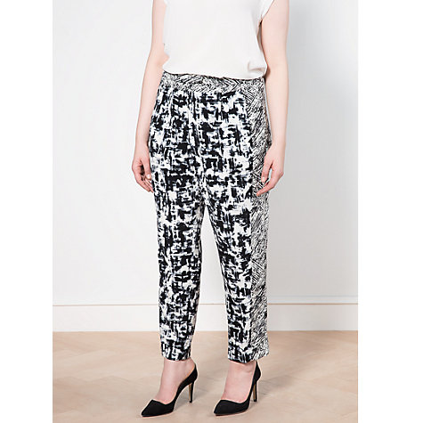 Buy Violeta by Mango Monochrome Print Trousers, Black Online at johnlewis.com