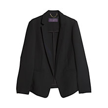 Buy Violeta by Mango Unstructured Flowy Blazer, Black Online at johnlewis.com