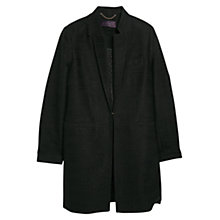 Buy Violeta by Mango Fantasy Patterned Coat, Black Online at johnlewis.com