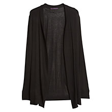 Buy Violeta by Mango Ribbed Detail Cardigan, Black Online at johnlewis.com