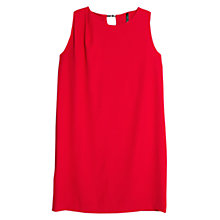 Buy Mango Flowy Sleeveless Shift Dress, Bright Red Online at johnlewis.com