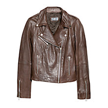 Buy Mango Leather Biker Jacket Online at johnlewis.com