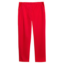 Buy Violeta by Mango Stretch-Side Twill Trousers, Bright Red Online at johnlewis.com