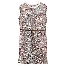 Buy Violeta by Mango Belt Leopard Dress, Rust Online at johnlewis.com