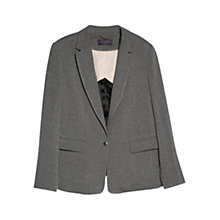 Buy Violeta by Mango Jersey Blazer, Grey Online at johnlewis.com