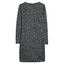 Buy Mango Jacquard Leopard Print Dress, Light Pastel Grey Online at johnlewis.com