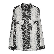 Buy Violeta by Mango Spot Print Shirt, Grey Online at johnlewis.com