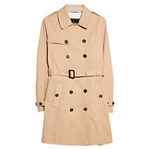 Buy Mango Classic Double Breasted Trench Coat, Medium Brown Online at johnlewis.com