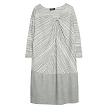 Buy Violeta by Mango Draped Neckline Dress, Grey Online at johnlewis.com
