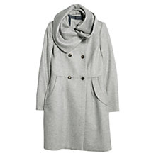 Buy Mango Wool Wraparound Coat, Medium Grey Online at johnlewis.com